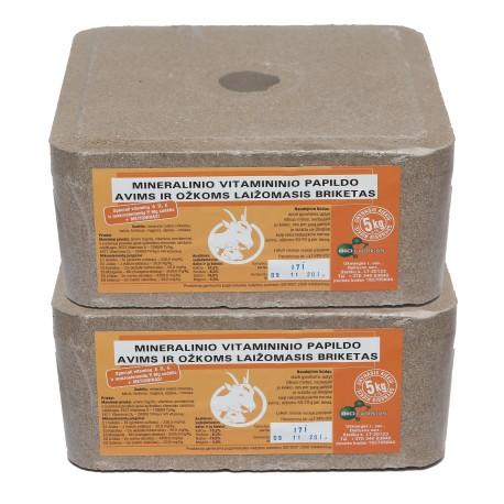 Ekologinis mineralinis laižalas avims 5 kg